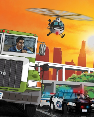 Grand Theft Auto 5 Los Santos Fight - Obrázkek zdarma pro Nokia Asha 311