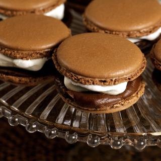 French Chocolate Macarons - Obrázkek zdarma pro 320x320