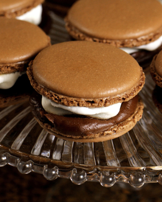 French Chocolate Macarons - Obrázkek zdarma pro iPhone 4