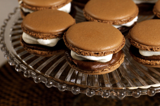 French Chocolate Macarons Wallpaper for Android, iPhone and iPad