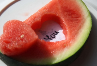 Watermelon Love Background for Android, iPhone and iPad