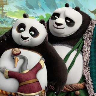 Kung Fu Panda 3 Family - Obrázkek zdarma pro iPad mini