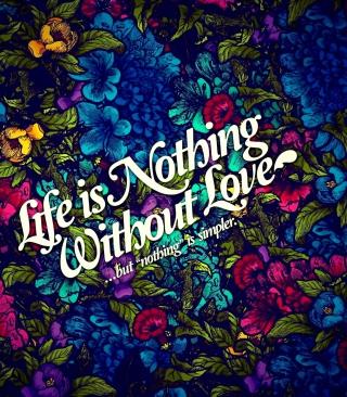 Life Is Nothing - Obrázkek zdarma pro Nokia X2