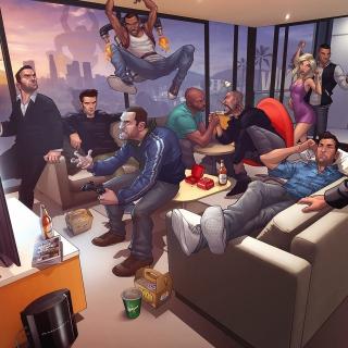 GTA IV, Tommy Vercetti Band - Obrázkek zdarma pro iPad
