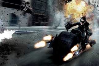 Anne Hathaway In Dark Knight Rises Background for Android, iPhone and iPad