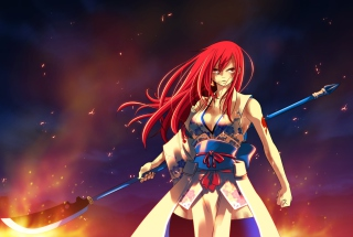 Fairy Tail - Erza Scarlet Wallpaper for Android, iPhone and iPad