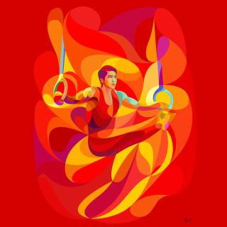 Rio 2016 Olympics Gymnastics - Obrázkek zdarma pro 128x128