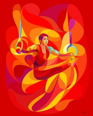 Rio 2016 Olympics Gymnastics - Obrázkek zdarma pro Nokia Lumia 1520