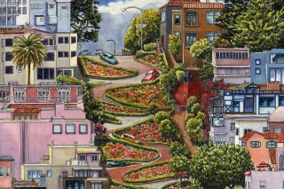 Lombard Street in San Francisco Wallpaper for Android, iPhone and iPad