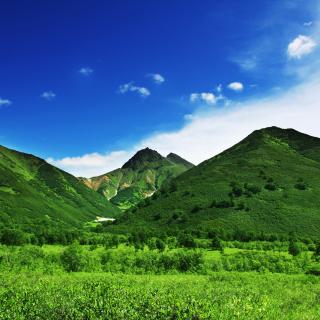 Green Hills - Obrázkek zdarma pro 208x208
