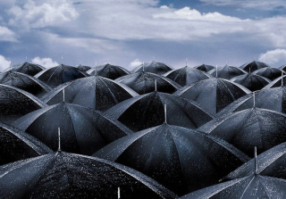 Umbrellas Background for Android, iPhone and iPad
