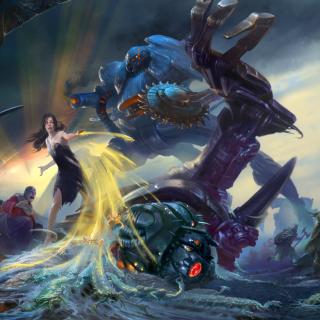 Robots Battle - Obrázkek zdarma pro 128x128