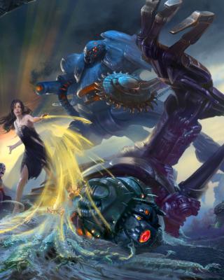 Robots Battle - Obrázkek zdarma pro 480x640