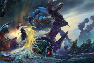 Robots Battle - Obrázkek zdarma pro 720x320