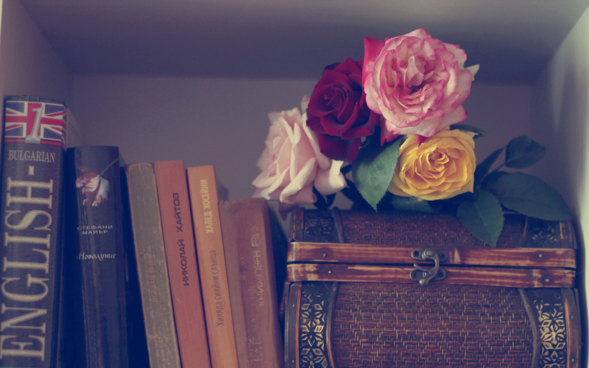 Flowers And Vintage Box Fondos De Pantalla Gratis Para Widescreen