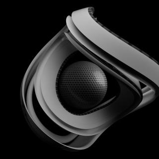 Black & White Ball - Obrázkek zdarma pro iPad Air