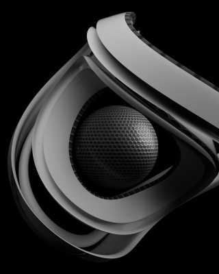 Black & White Ball - Obrázkek zdarma pro 240x432