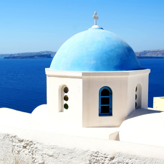 Santorini Greece Fantastic Island - Obrázkek zdarma pro iPad mini 2