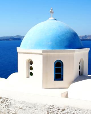 Santorini Greece Fantastic Island - Obrázkek zdarma pro Nokia Lumia 920T