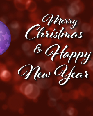 Merry Christmas and Best Wishes for a Happy New Year - Obrázkek zdarma pro Nokia Asha 202