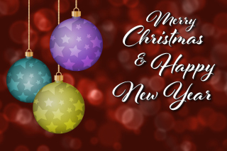 Merry Christmas and Best Wishes for a Happy New Year Background for Android, iPhone and iPad