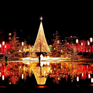 Merry Christmas Greeting Card - Obrázkek zdarma pro 1024x1024