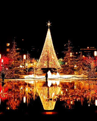 Merry Christmas Greeting Card - Obrázkek zdarma pro 176x220