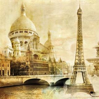 Paris, Sacre Coeur, Cathedrale Notre Dame - Obrázkek zdarma pro 1024x1024