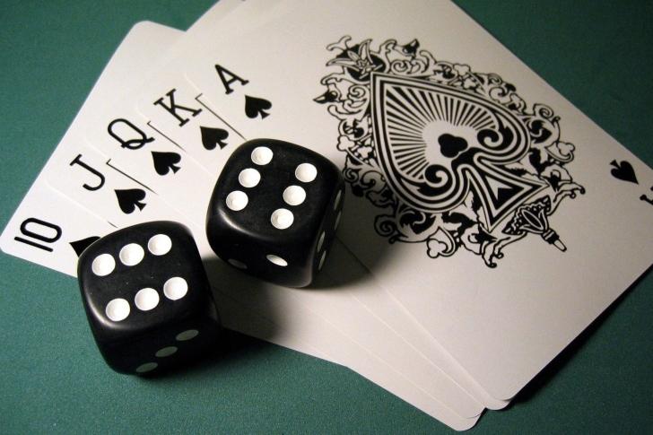 Gambling Dice and Cards wallpaper