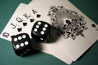 Gambling Dice and Cards Wallpaper for Android, iPhone and iPad