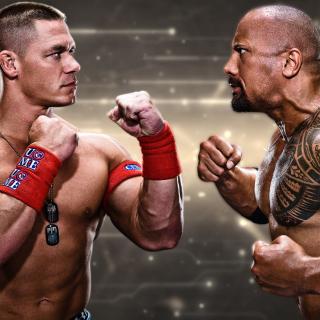 The Rock vs John Cena - Obrázkek zdarma pro iPad mini