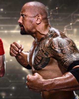 The Rock vs John Cena - Obrázkek zdarma pro 132x176