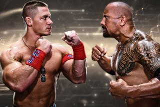 The Rock vs John Cena - Obrázkek zdarma pro 800x480