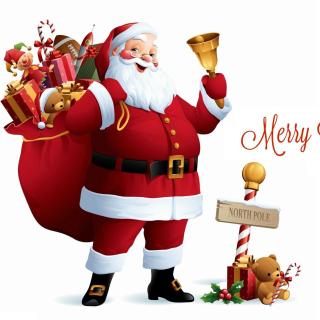 HO HO HO Merry Christmas Santa Claus - Obrázkek zdarma pro 208x208