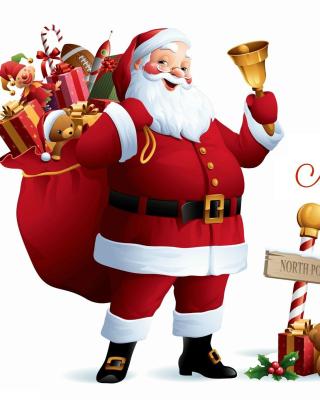 HO HO HO Merry Christmas Santa Claus - Obrázkek zdarma pro 132x176