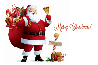 HO HO HO Merry Christmas Santa Claus - Obrázkek zdarma pro Widescreen Desktop PC 1920x1080 Full HD