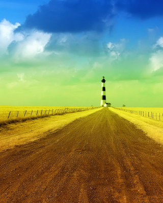 Lighthouse In Field - Fondos de pantalla gratis para Huawei G7300