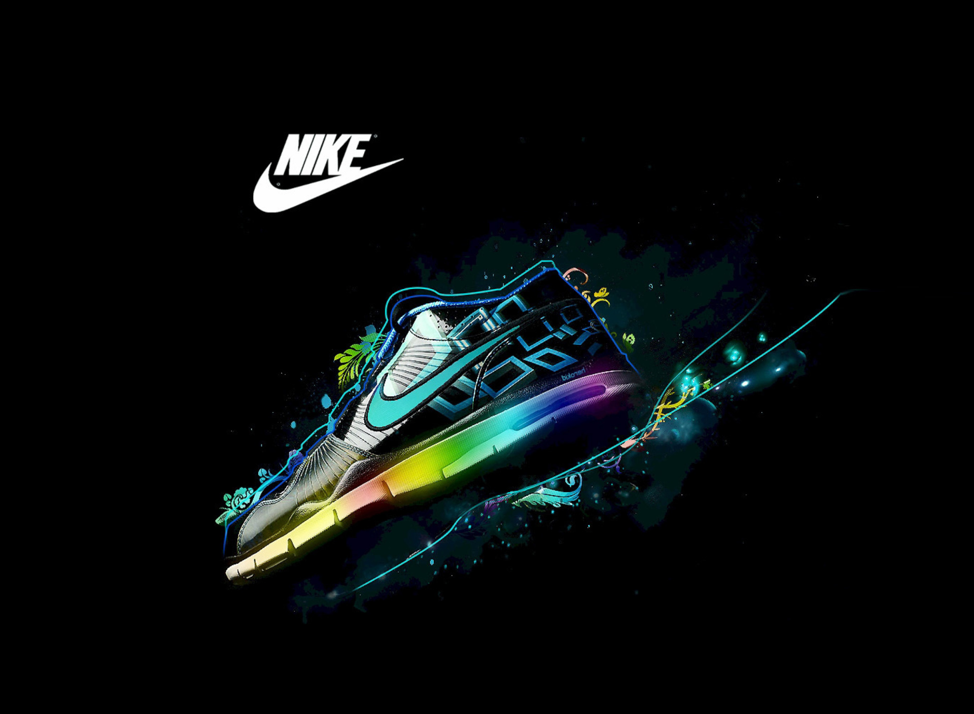 Nike Logo And Nike Air Shoes Wallpaper For Samsung Galaxy S5