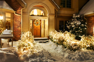 Free Christmas Outdoor Home Decor Idea Picture for Android, iPhone and iPad