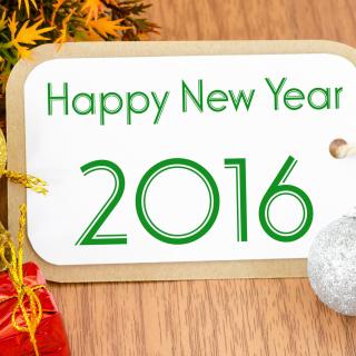 Happy New Year 2016 Card - Obrázkek zdarma pro 2048x2048