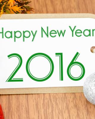 Happy New Year 2016 Card - Obrázkek zdarma pro 1080x1920