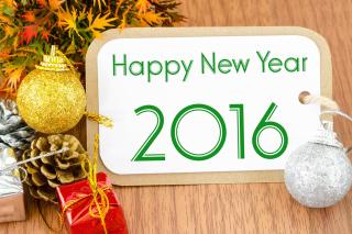 Happy New Year 2016 Card - Obrázkek zdarma pro Sony Xperia Tablet Z