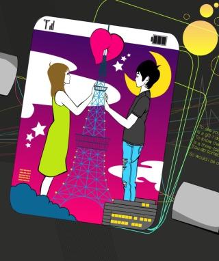 I Miss You In Paris - Obrázkek zdarma pro Nokia C6
