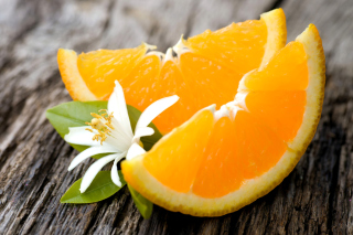 Orange Slices Background for Android, iPhone and iPad