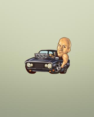Vin Diesel Illustration - Obrázkek zdarma pro Nokia Lumia 810