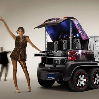 Music Smart Car - Obrázkek zdarma pro 1024x1024