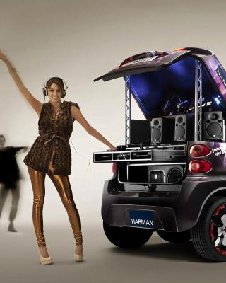 Music Smart Car - Obrázkek zdarma pro Nokia 300 Asha