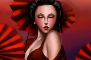 Geisha Wallpaper for Android, iPhone and iPad