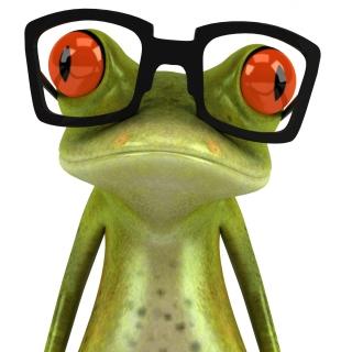 3D Frog Glasses - Obrázkek zdarma pro iPad mini 2