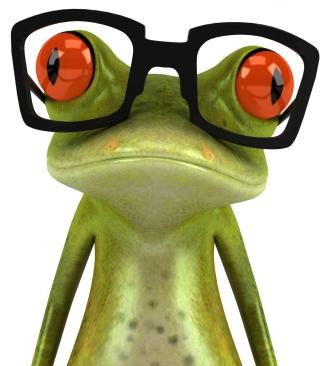 3D Frog Glasses - Obrázkek zdarma pro 768x1280